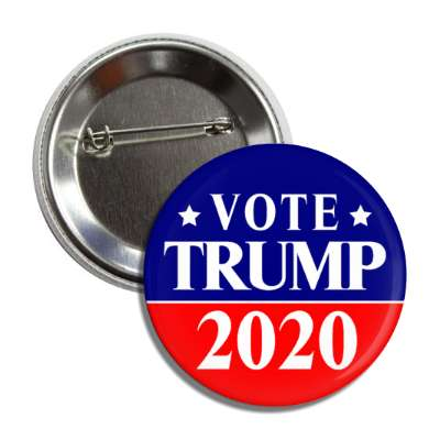 vote donald trump president 2020 red blue line button