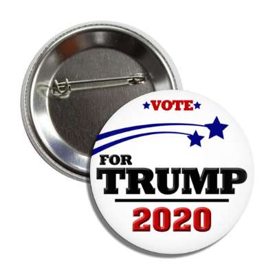 vote donald trump president 2020 stars white button