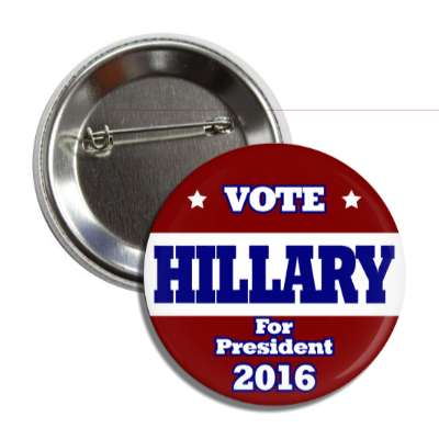 vote hillary 2016 dark blue dark red button