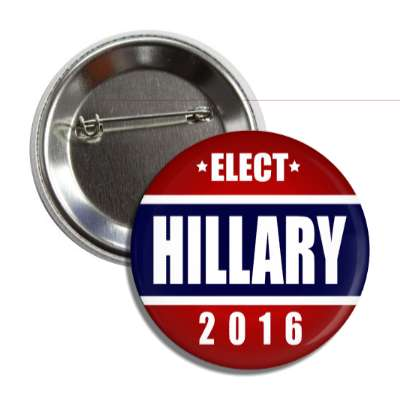 vote hillary 2016 dark blue middle red top bottom button