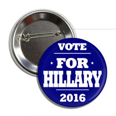vote hillary 2016 dark blue button