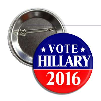 vote hillary 2016 red dark blue line button