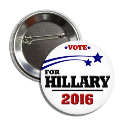vote hillary 2016 stars white button