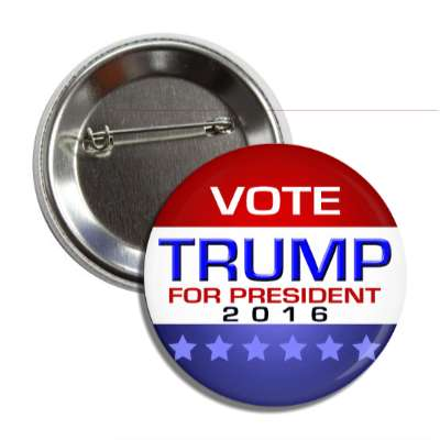 vote trump 2016 modern red white blue button