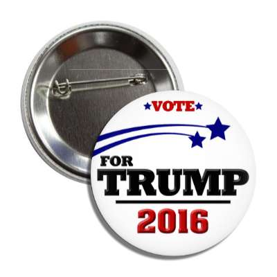 vote trump 2016 stars white button