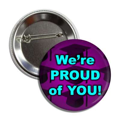 were proud of you graduation cap silhouette button