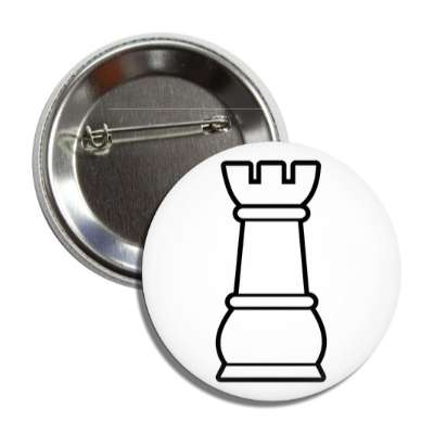 white rook chess piece button