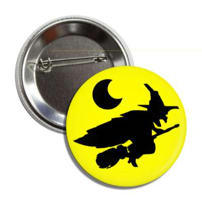 witch moon silhouette yellow button