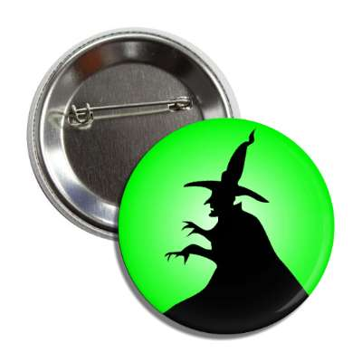 witch silhouette green button