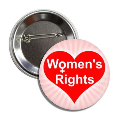 womens rights heart button