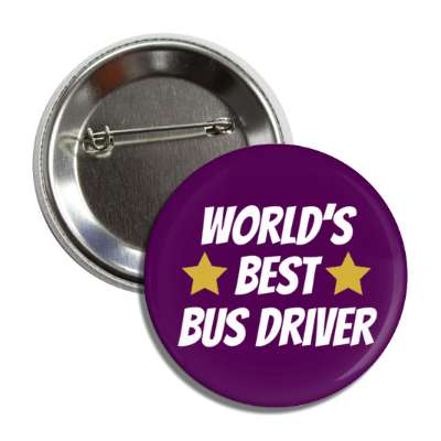 worlds best bus driver button