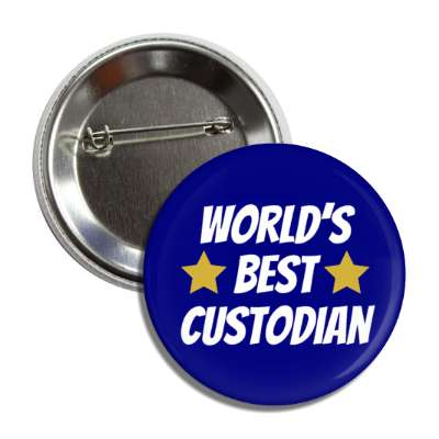 worlds best custodian button