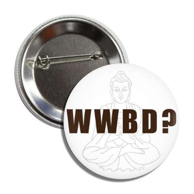 wwbd buddha outline button