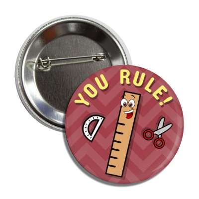 you rule smiley ruler scissors protractor button