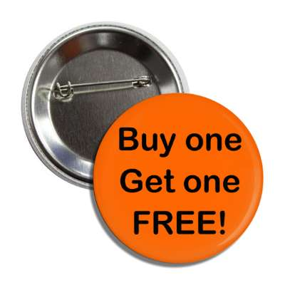 buy one get one free orange button