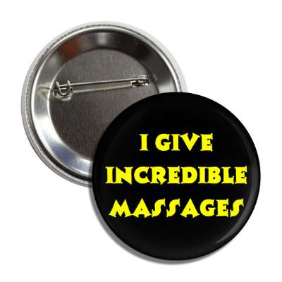 incredible massages button