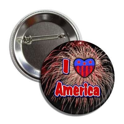 i love america fireworks red white blue button