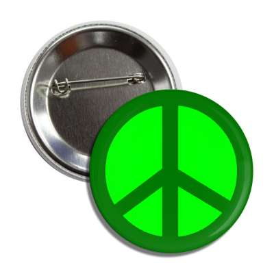 peace sign green button