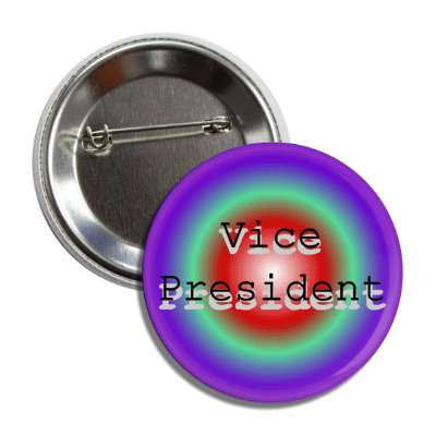 vice president rainbow multicolor button