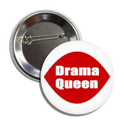 drama queen ice cream logo button